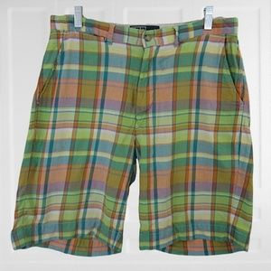 Polo Ralph Lauren plaid madras mens shorts sz 32